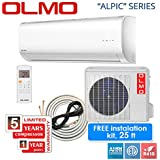 OLMO ALPIC mini split up to 16 SEER with or without KIT (12000 BTU 230V+25FT COPPER + CONNECTION WIRE)