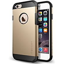 Spigen Tough Armor iPhone 6 Case with Extreme Heavy Duty Protection and Air Cushion Technology for iPhone 6S / iPhone 6 - Champagne Gold