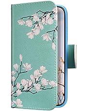 Uposao Funda para Xiaomi Redmi Note 5 Carcasa Cuero con Tapa Flip Libro Estuche,Flor blanca Dibujos PU Premium Flip Case Billetera con Silicona Suave Cover Interna,Cierre Magnético,Función Soporte