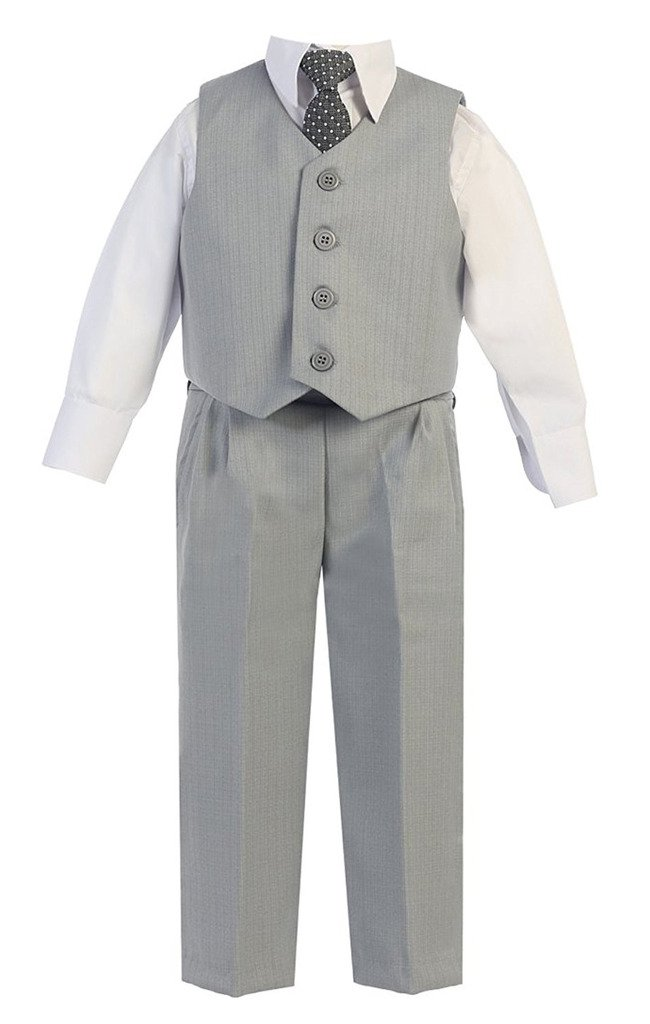 iGirlDress Baby Boys Vest Pants Special Occasion Easter Outfit Set 18-24mo Light Gray by iGirldress