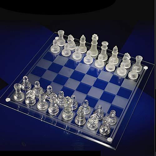 SKLLA Ajedrez de Cristal, Juego de ajedrez portátil para Adultos Principiantes (3 Modelos),2