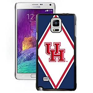 Popular And Durable Designed Case With NCAA American Athletic Conference AAC Football Houston Cougars 3 Protective Cell Phone Hardshell Cover Case For Samsung Galaxy Note 4 N910A N910T N910P N910V N910R4 Phone Case Black