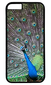 The Peacock Shows Its Tail DIY Hard Shell Black Best Designed iphone 6 plus Case