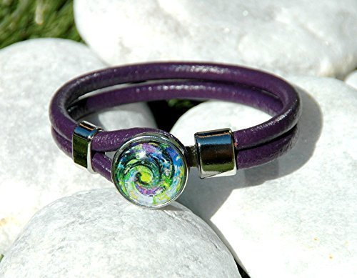 royal-deep-purple-leather-bracelet-snap-jewelry-noosa-style-ginger-snaps-jewelry-interchangeable-sna