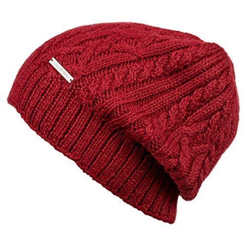 LUNA & TERRA - UDINE Hat Beanie Hand Knitted 100% BABY ALPACA (Imperial Red)