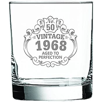 Amazon Com Whiskey Glass 50th Birthday Vintage 1968 Aged