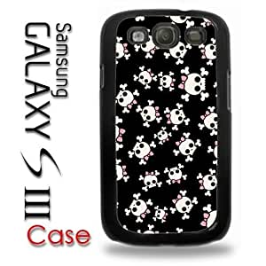 Samsung Galaxy S3 Plastic Case - Girl Skulls Pink Bow Punk Rock Very Cute