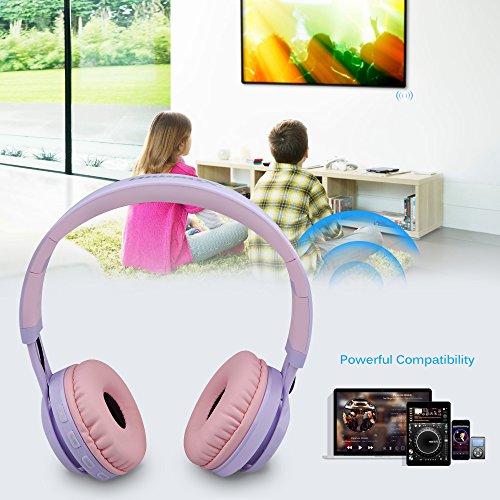 Riwbox wt-7s Bluetooth auriculares luz Up, plegable Stero auriculares inalámbricos con micrófono y Control de volumen para PC/teléfonos móviles/TV/iPad: ...