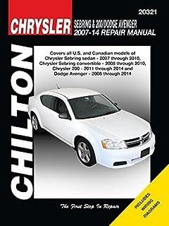 Chrysler sebring 200 and dodge avenger 2007 thru 2014 all models chrysler sebring 200 dodge avenger automotive repair manual 2007 14 chilton automotive fandeluxe Images