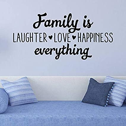 Amazon.com: Family is Laughter Love Happiness Wall Quote ...