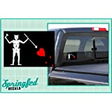 "BLACK BEARD'S JOLLY ROGER PIRATE FLAG 5"" Vinyl Decal Car Truck Window Sticker"