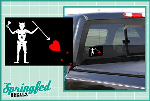 jolly roger car window decal - 6