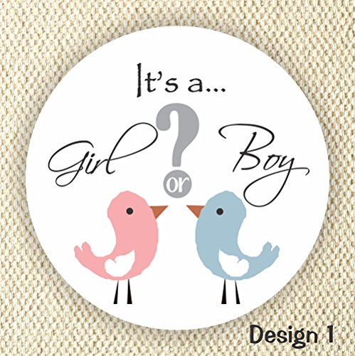 Gender Reveal Stickers - Girl or Boy Stickers - Baby Shower Stickers - Pink or Blue Shower Labels from Philly Art & Crafts
