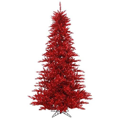 Vickerman Red Tinsel Fir Christmas Tree