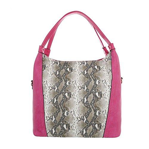 al Sintético Pink hombro Ital para Multi mujer Bolso Design de nZxBER