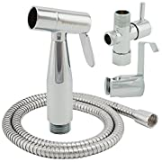 ShowerMaxx Premium Cloth Diaper Sprayer - Adjustable Handheld Toilet Bidet Water Cleaner - Complete Set with Hose, T-Valve, Tank/Wall Mount & Plumber's Tape - Polished Chrome - Easy to Install & Use