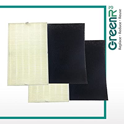 GreenR3 2-PACK HEPA Air Filters Air Purifiers for Honeywell HRF-R2 fits HPA-200 HPA200 HPA250 HPA-200APTW HPA-202APTW Model Series Replacement Parts Cleaning Tool Accessories PN and more