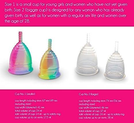 Yuuki - Juego de copa menstrual e infusor, múltiples opciones de tamaño, S, Classic, 2