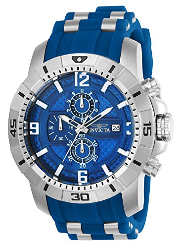 Invicta Men's 'Pro Diver' Quartz Stainless Steel Casual Watch, Color Blue (Model: 24963)