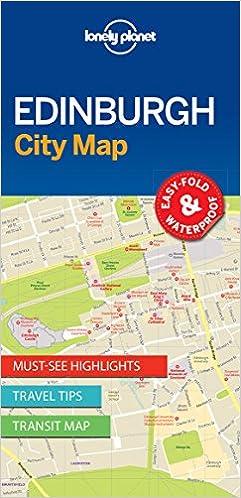 Map Edinburgh.Lonely Planet Edinburgh City Map Amazon Co Uk Lonely Planet
