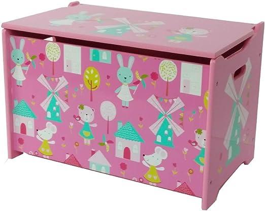 Niños Juguetes Madera Caja Banco Infantil con Espacio para Guardar Juguetes baúl HS de 17gd (60 x 36 x 39 cm): Amazon.es: Juguetes y juegos