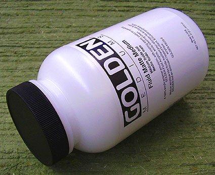 Golden Acrylic Fluid Matte Medium - 128 oz Jar
