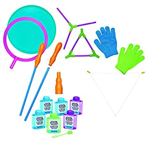 Little Kids Slick Tricks Bubble Magic 16 Tricks Kit with Instructions and Materials for 16 Tricks and a BONUS Extra Solutions Refill Pack Toy