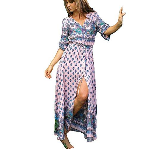 抑制パノラマ動的Jnete DRESS レディース カラー: ピンク