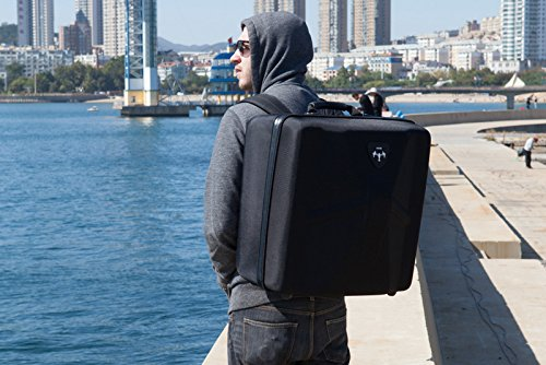 Bestem Aerial DJI Inspire 1 Black Waterproof 1680D EVA Shell Unique Hardshell InsPak Backpack Carrying Case with Gimbal Lock for DJI Inspire 1 (X3 only) by Bestem Aerial (Image #8)