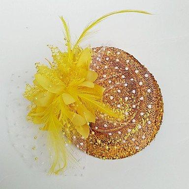 ABC-Sombreros y gorras Boinas   Tul Pluma Fascinators Sombreros   para la  Cabeza with Flor 1pc Boda Ocasión Especial Celada 3c31d873a88