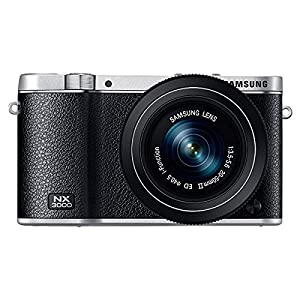 Samsung EV-NX3000BEIUS Wireless Smart 20.3MP Compact System Camera with 3-Inch LCD and 20-50mm Compact Zoom (Black)