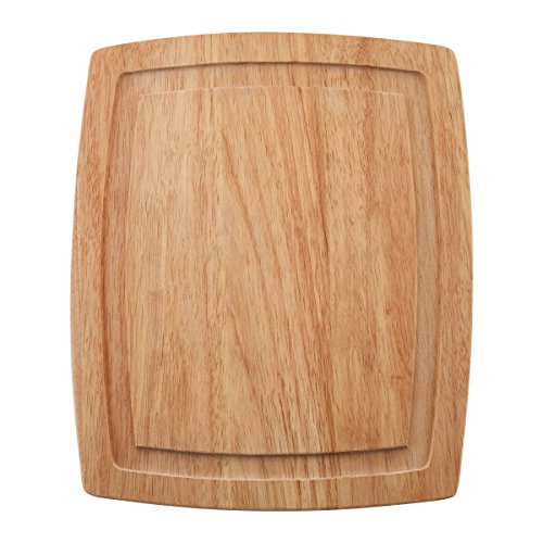 Farberware Wood Cutting Board with Drip Groove Trench, 10-inch-by-12-Inch