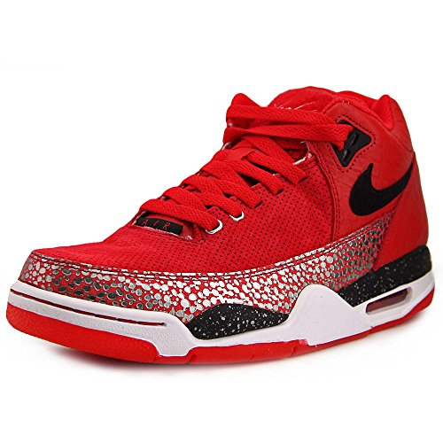 Nike Flight Squad QS Men Round Toe Synthetic Red Basketball Shoe