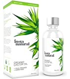 InstaNatural Castor Oil - 100% Pure & Certified Organic for Hair, Face, Skin & Nails - Cold Pressed & Unrefined Moisturizer for Healthy Skin - Natural Conditioner for Dry & Damaged Hair - 4 OZ