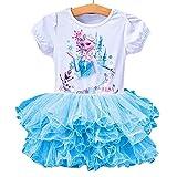 Eyekepper Short Sleeve Cartoon Printed Princess Dress Tutu Dresses