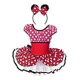 Dressy Daisy Girls' Minnie Mouse Costume w Headband Fancy Party Dress Cosplay Dancewear