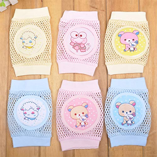 Gold Happy Cartoon Baby Knee Pads Anti Slip Mesh Cushion Crawling Protector Cotton Kids Kneecaps Children for Grils Boys Leg Warmers by Gold Happy