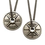Men's Antique Finish High Relief Weight Plate Necklace-Phil 4:1320132013 offers