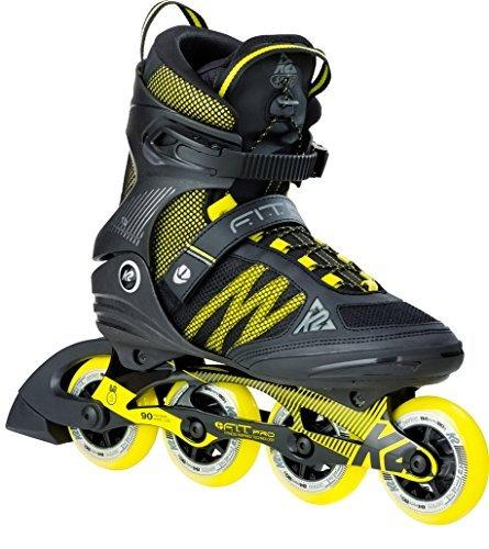K2 Skate F.I.T. Pro 84 Inline Skates Size 6.5 黒/黄 [並行輸入品]