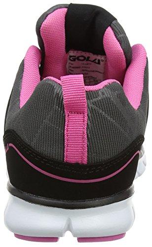 Donna Black Pink Nero Scarpe Gola Indoor Luna Sportive 4BSqSI