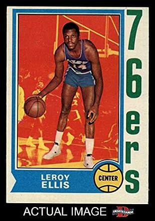 bef09867c 1974 Topps   111 Leroy Ellis Philadelphia 76ers (Basketball Card) Dean s  Cards 5 -