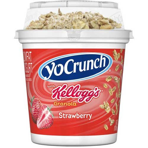 Yocrunch Strawberry with Granola Yogurt, 6 Ounce - 8 per case.