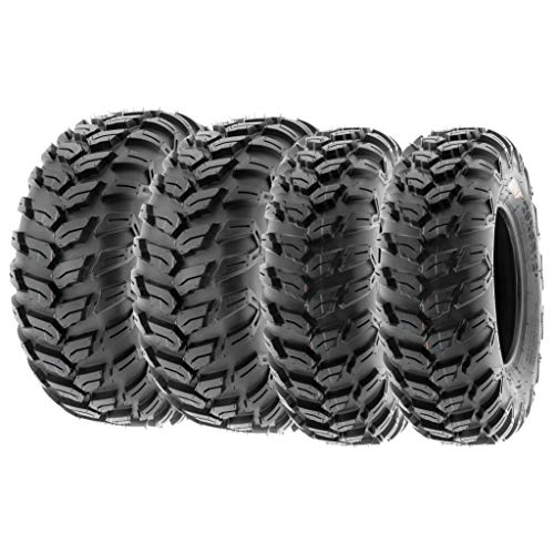 SunF Radial Race Replacement ALL TERRAIN ATV UTV 6 Ply Tires 27x9R12 & 27x11R12 Tubeless A043, [Set of 4]