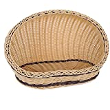 Osave Summer Doghouse Pet Bed Bamboo Mat Pet Dog Cat Bed Rattan Pets Bed (S, Beige)