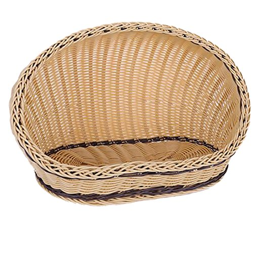 Osave Summer Doghouse Pet Bed Bamboo Mat Pet Dog Cat Bed Rattan Pets Bed (M, Beige)