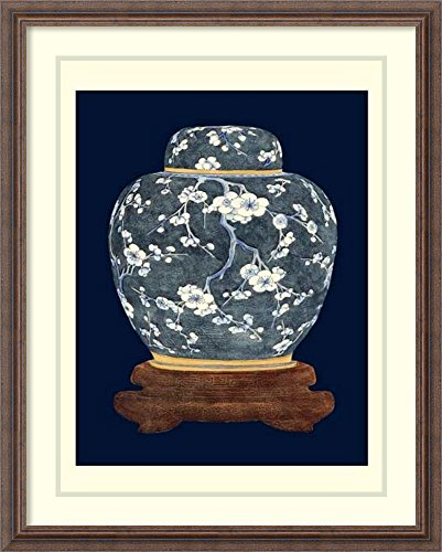 Framed Art Print 'Blue & White Ginger Jar I' by Vision Studio White Ginger Matted Print