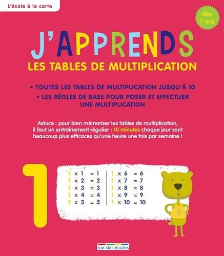 J Apprends Les Tables De Multiplication Des 7 Ans 9782820805041
