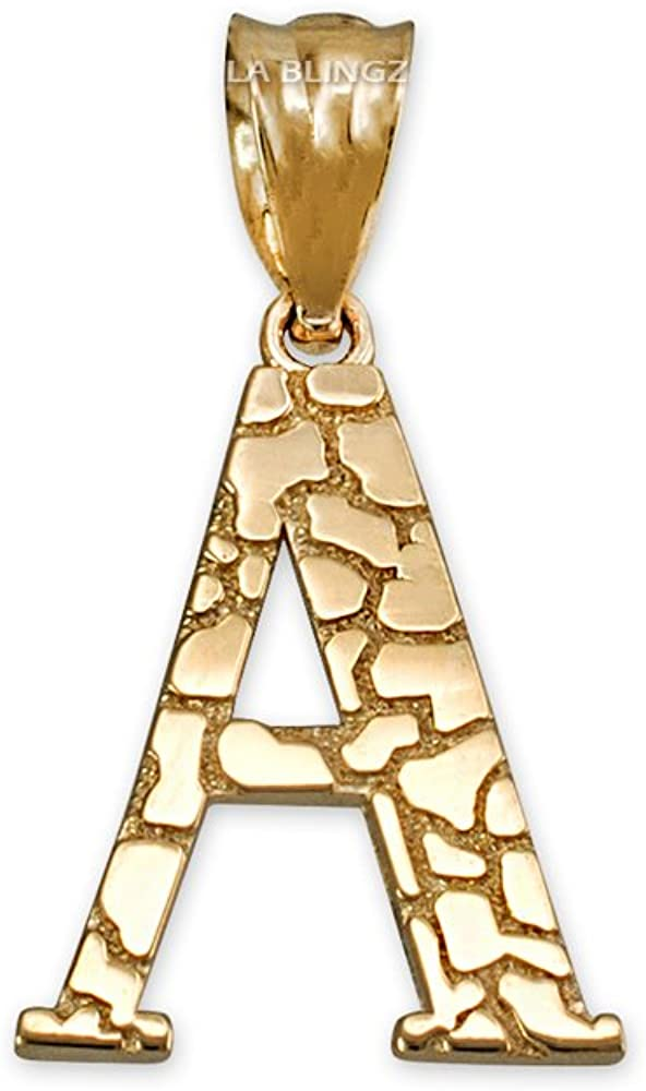 14k Yellow Gold Solid Free Form Nugget Charm Pendant 0.9 gram