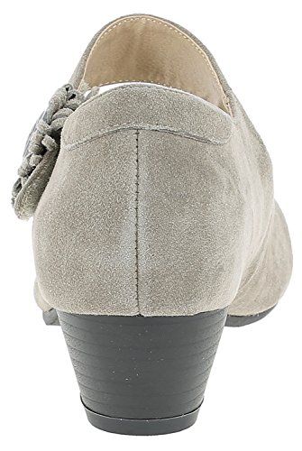 Herten Kogel Dames Pumps 3002710 Kostuum Schoenen | Oktoberfest Schoenen | Dirndl Schoenen | Schoenen Voor Drindl | Schoenen Voor Leren Broek | Pompen Voor Jeans Taupe / Kombi