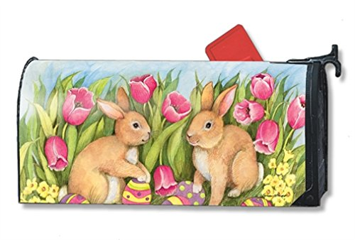 MailWraps Hiding the Eggs Mailbox Cover 01279 Easter Eggs Mailbox Cover